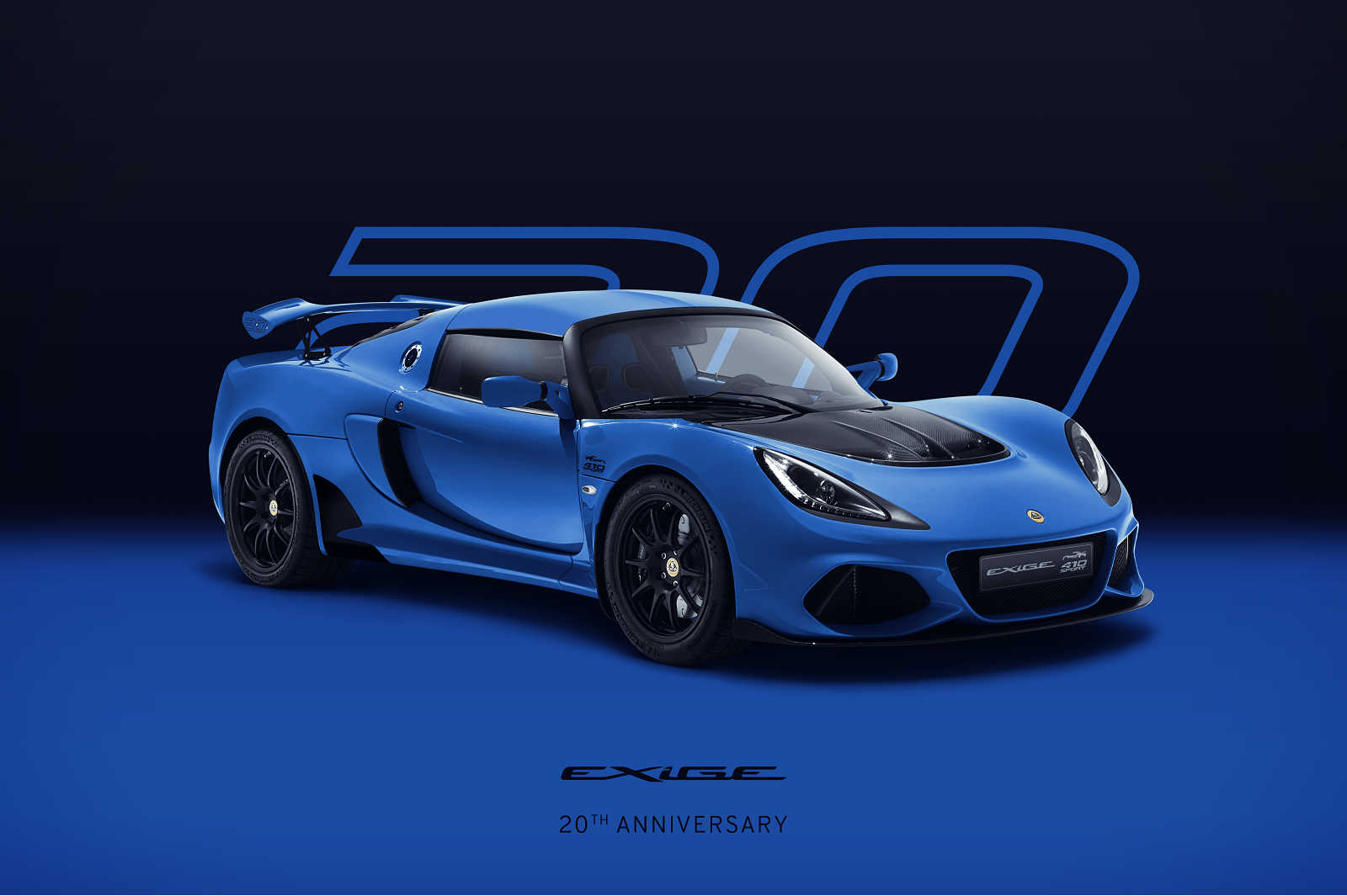Exige 20th Anniversary_Blue_Hero_Front