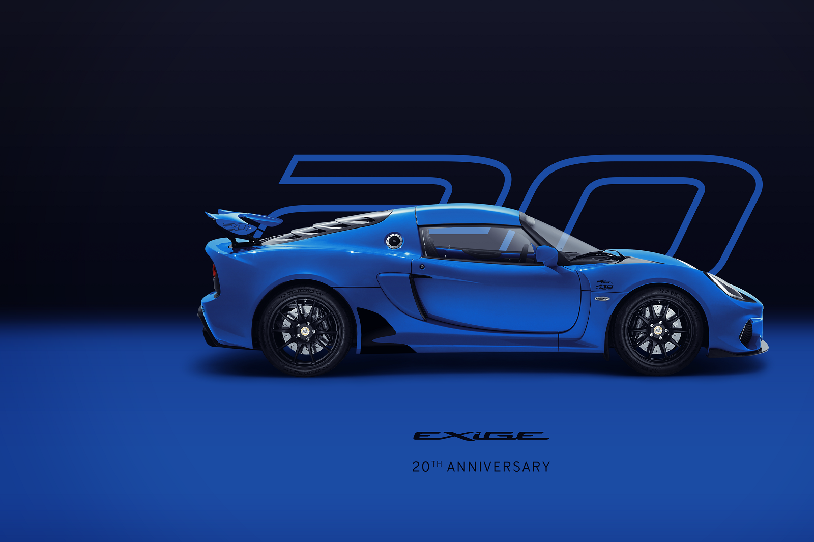 Exige 20th Anniversary_Blue_Hero_Side
