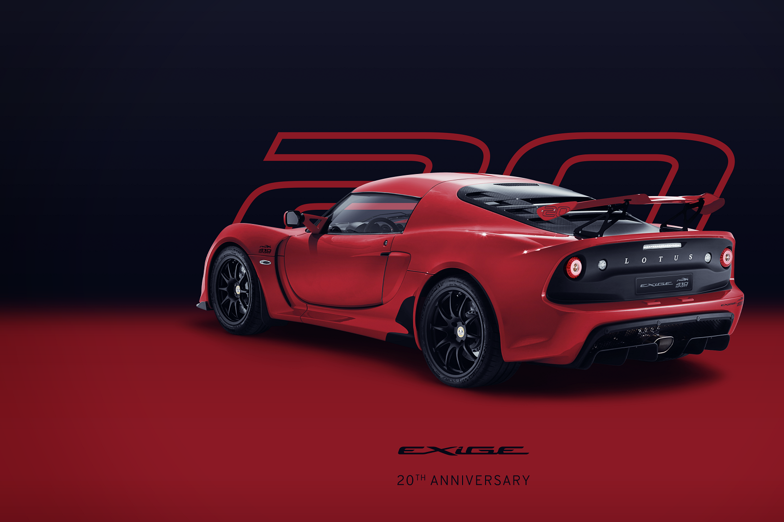 Exige 20th Anniversary_Red_Hero_Rear