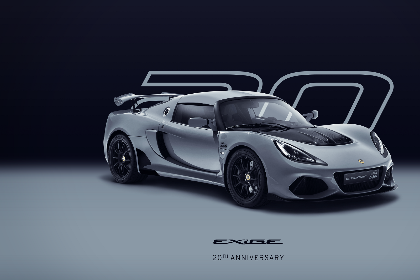 Exige 20th Anniversary_Silver_Hero_Front